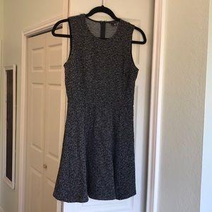 Theory Black & White Textured Dress